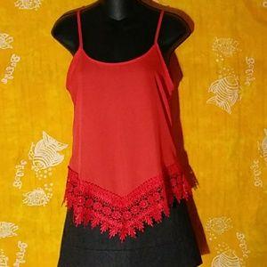 Nella Fantasia size small red-orange camisole top